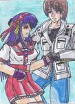 KOF XIV Athena y Kyo de la mano