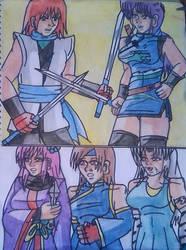 Duelo de espadas Alondra vs Ryo