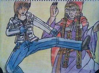 Kyo vs Shaft   KOF vs Castlevania 2 by carlos1976