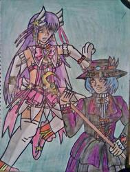 Athena Asamiya vs Actrise KOF vs Castlevania 3 by carlos1976