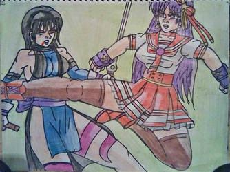 Athena Asamiya vs Shiki by carlos1976
