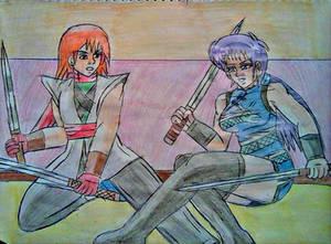 Alondra vs Ryo duelo de espadas