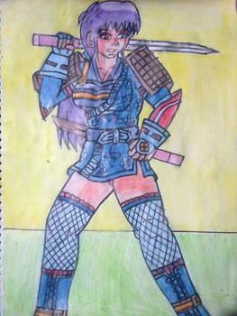 Alondra como ninja estilo antiguo