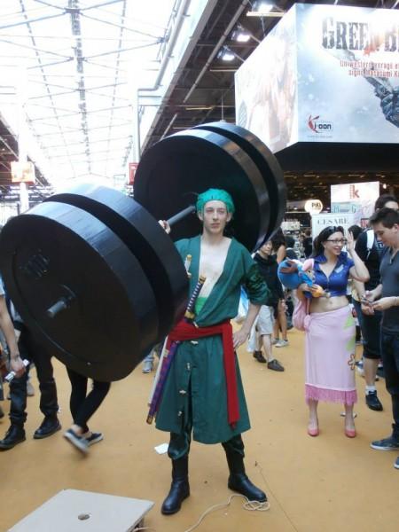 Roronoa Zoro Cosplay With A Big Dumbbell By Roronoa51 On Deviantart