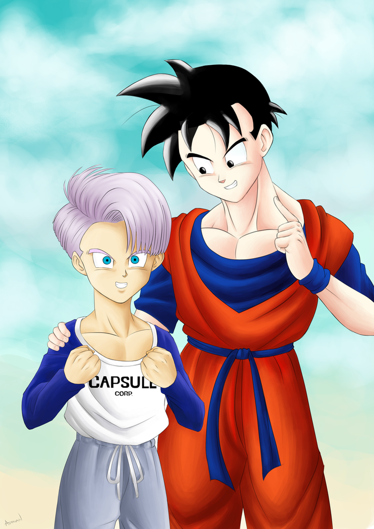 Future Gohan and Trunks fanart by AdrianEH