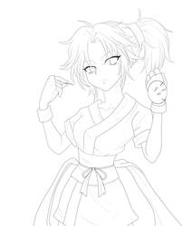 Machi - Hunter X Hunter Lineart