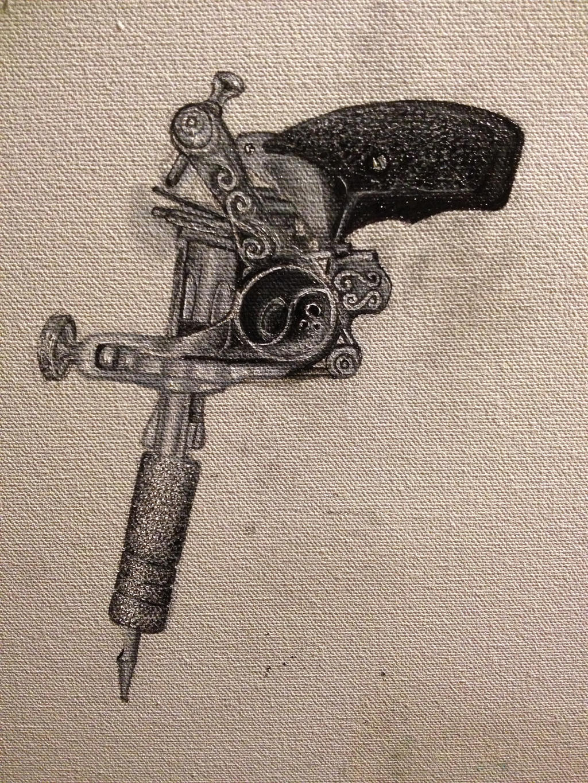 gun shaped tattoo machine by patriciaeliza777 on deviantart. Black Bedroom Furniture Sets. Home Design Ideas