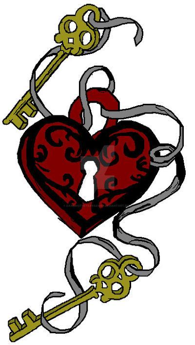 Key To My Heart Tattoo Designs My Key Heart Tattoo Design by