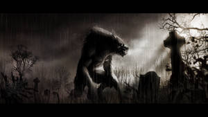 Wolf in the Cemetery by ValentynVonBlut