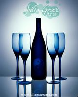 Yin-Yang Wine Bottle by JuliaGraceArts