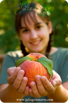 Farm Girl And Her Peach