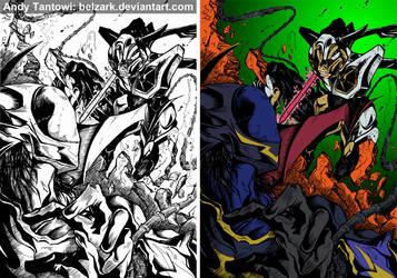 Code Geass- Zero VS Suzaku by andytantowibelzark
