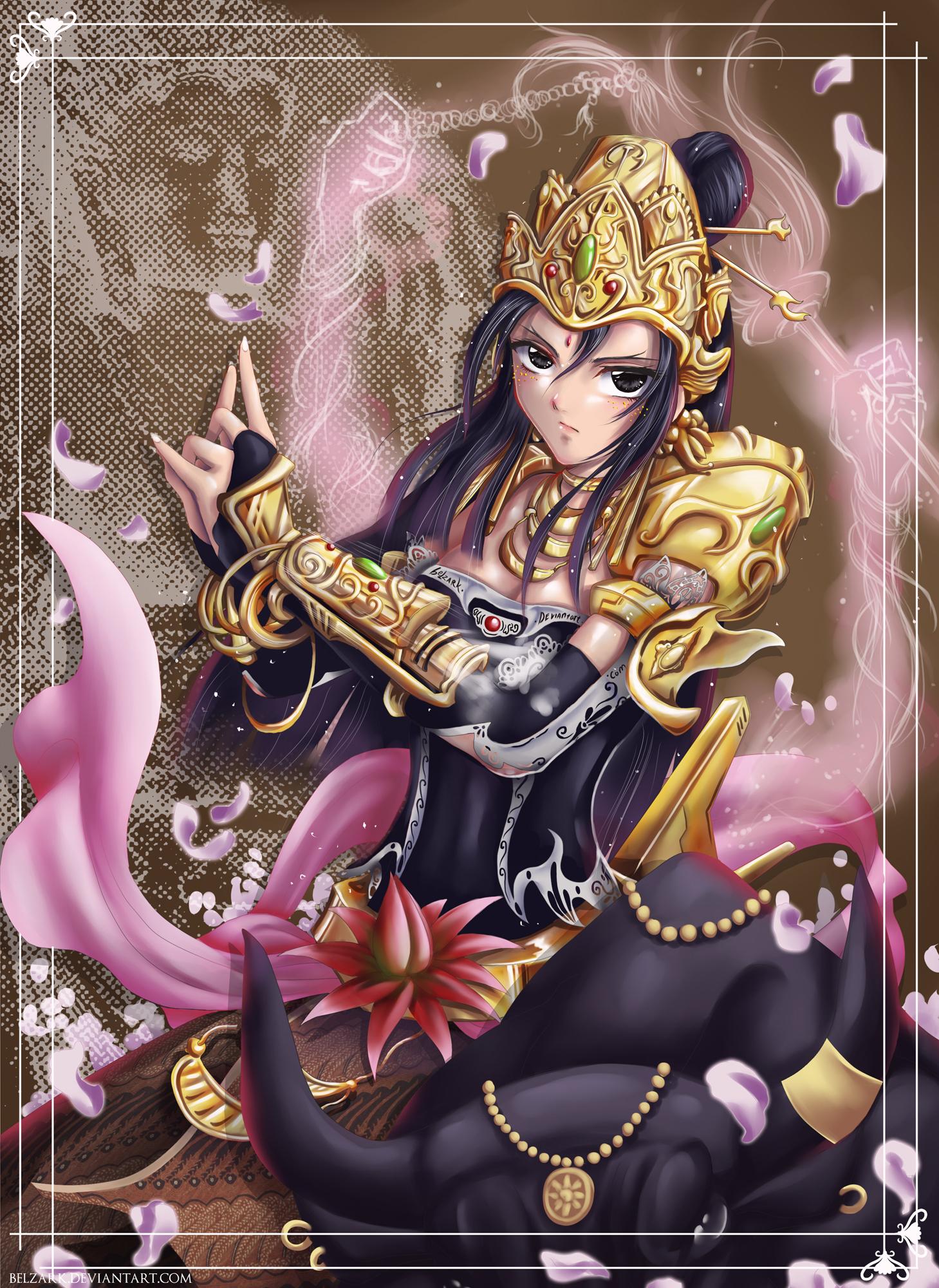 Dewi  -  Queen of Majapahit by andytantowibelzark