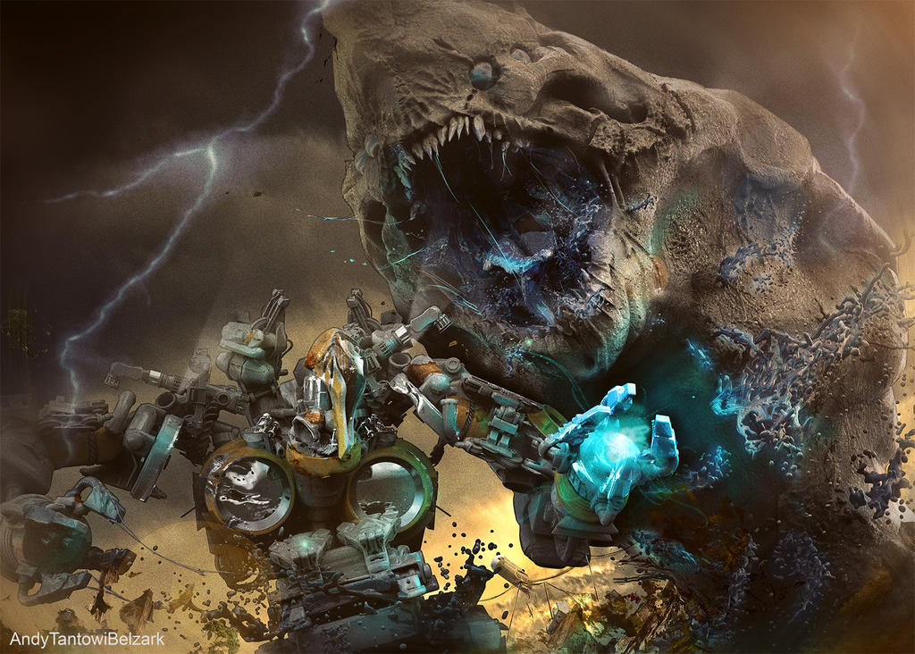 Kaiju battle by Belzark