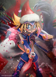 Commission: X mas Toon Dark Magician Girl