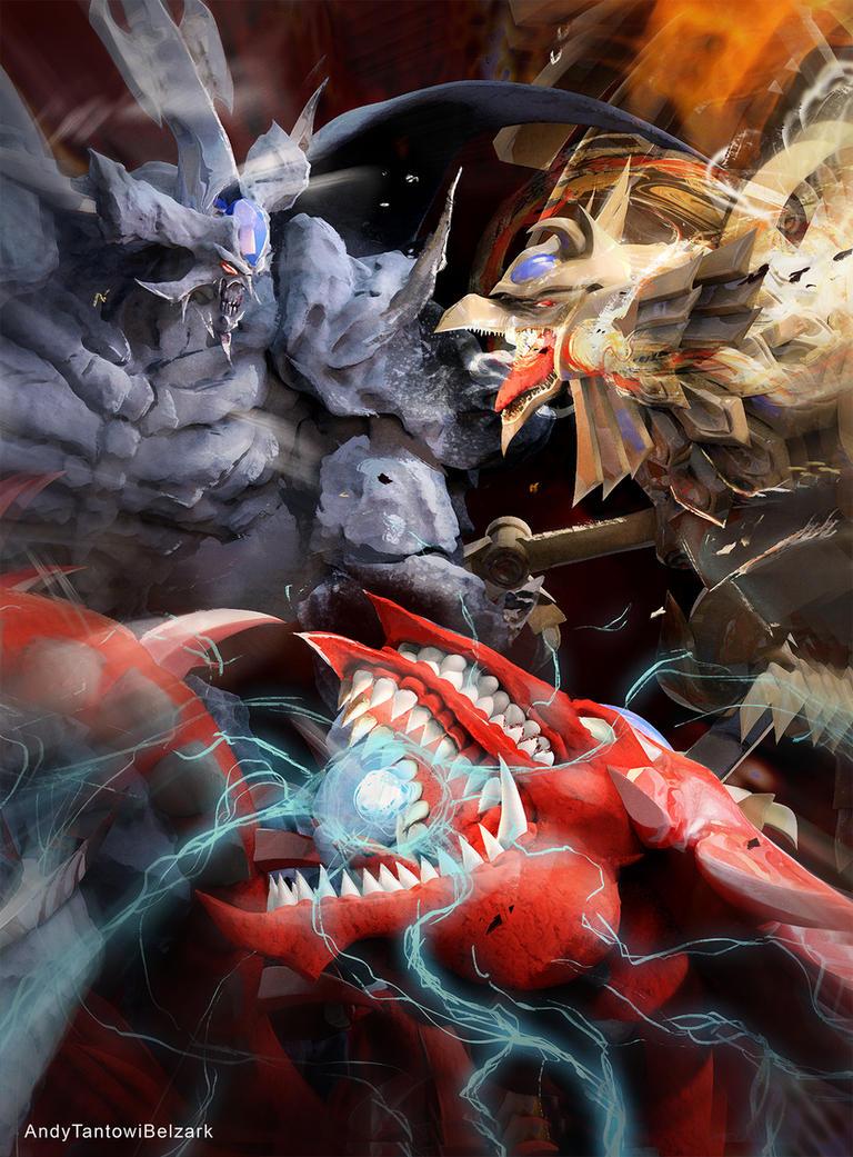 Commission: Gods Fighting by andytantowibelzark