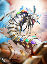 CM: Rainbow Dragon by andytantowibelzark
