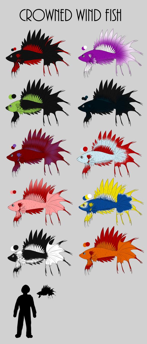 Crowned Wind Fish by ChocolateMilkLOL