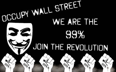 Occupy Wall Street Wallpaper by Silver-Xombie