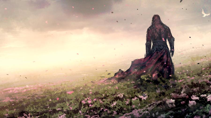 assassian if a flower field by o-Evenstar-o