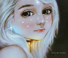 Starry cheeks. by ririss