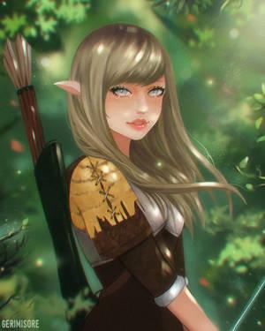 [Comm] Elf Girl. by ririss