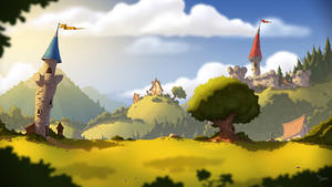 Level background for a mobile game.
