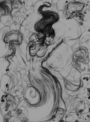Mermaid sketch by artbyklaudiajozwiak