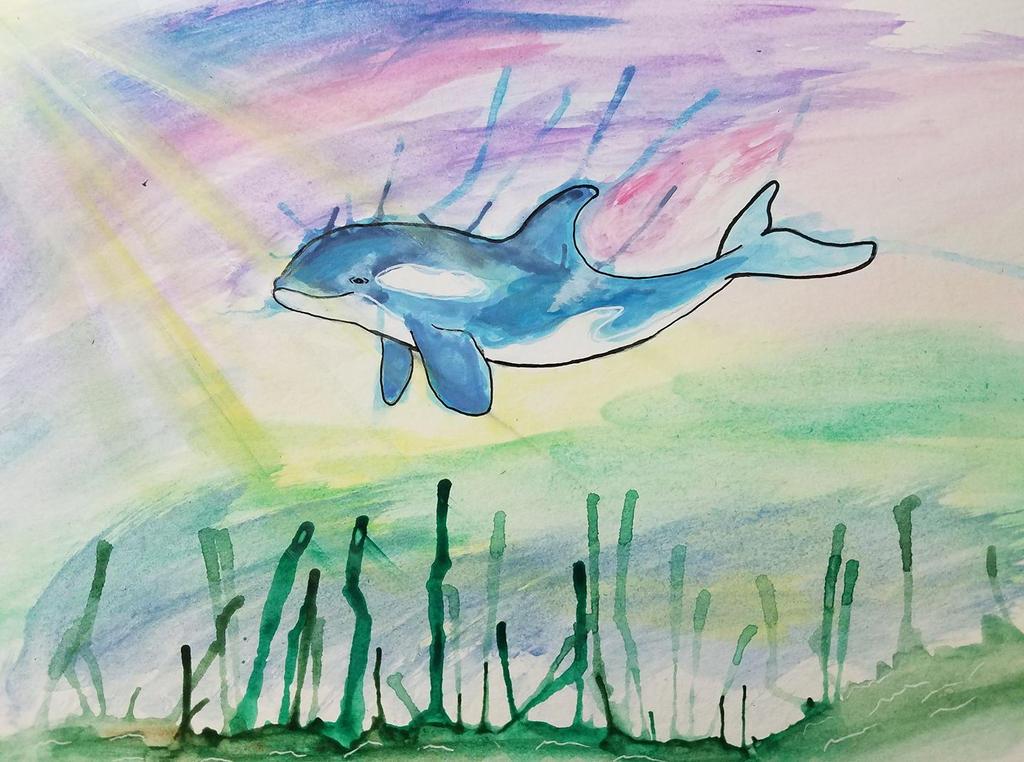 Orca in Watercolor by dracoaestas