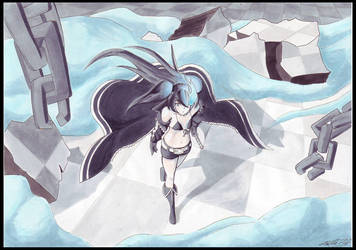 Black Rock Shooter by AutomaticGiraffe