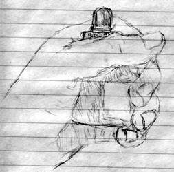 Hand Sketch - Bottle