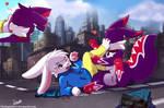 Macro fun with Bun [Commission] by FireEagle2015