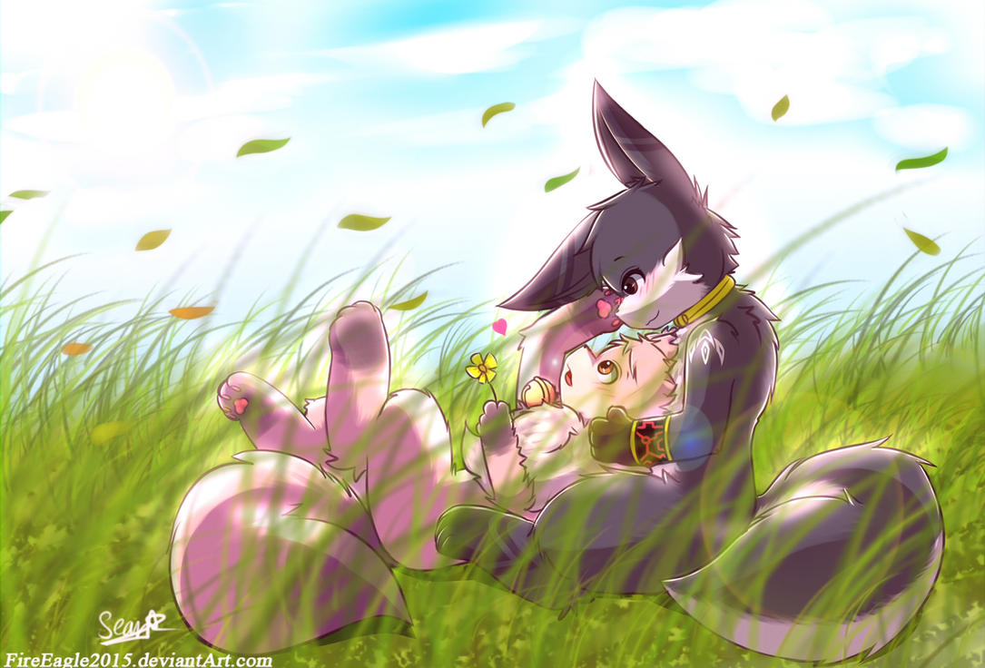 Peaceful day ~[Commission] - Speedpaint by FireEagle2015