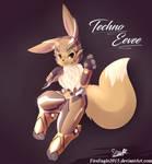 Techno Eevee #1 (Speedpaint) by FireEagle2015