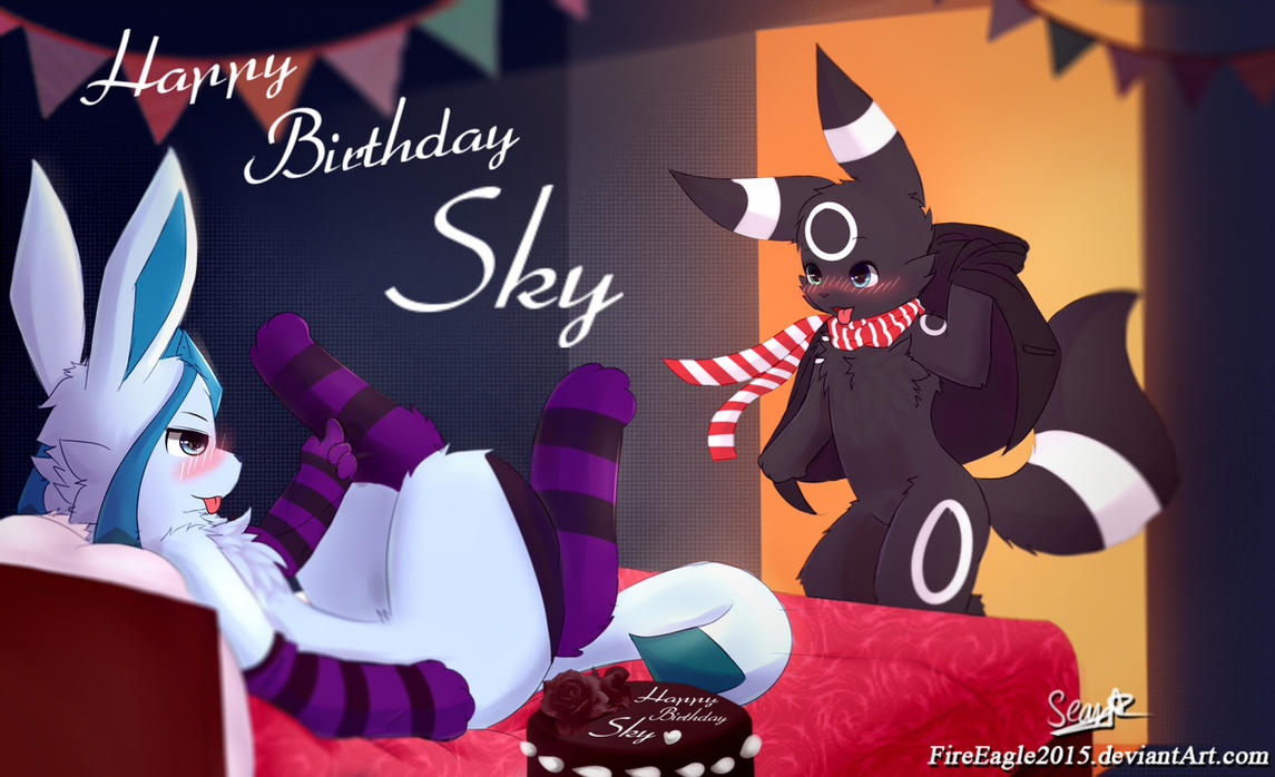 Birthday after work [Commission] by FireEagle2015