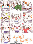 Lyric's Emojis [Request] by FireEagle2015