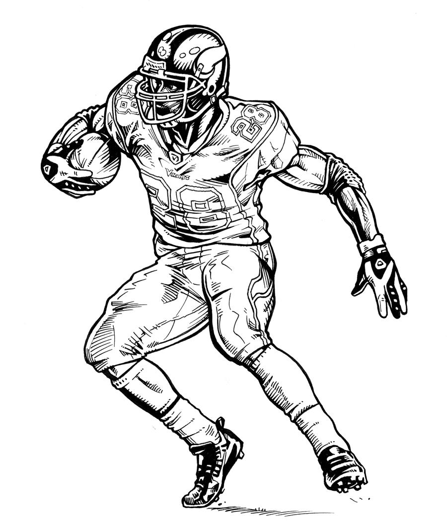 Image Result For Nfl Players Coloring