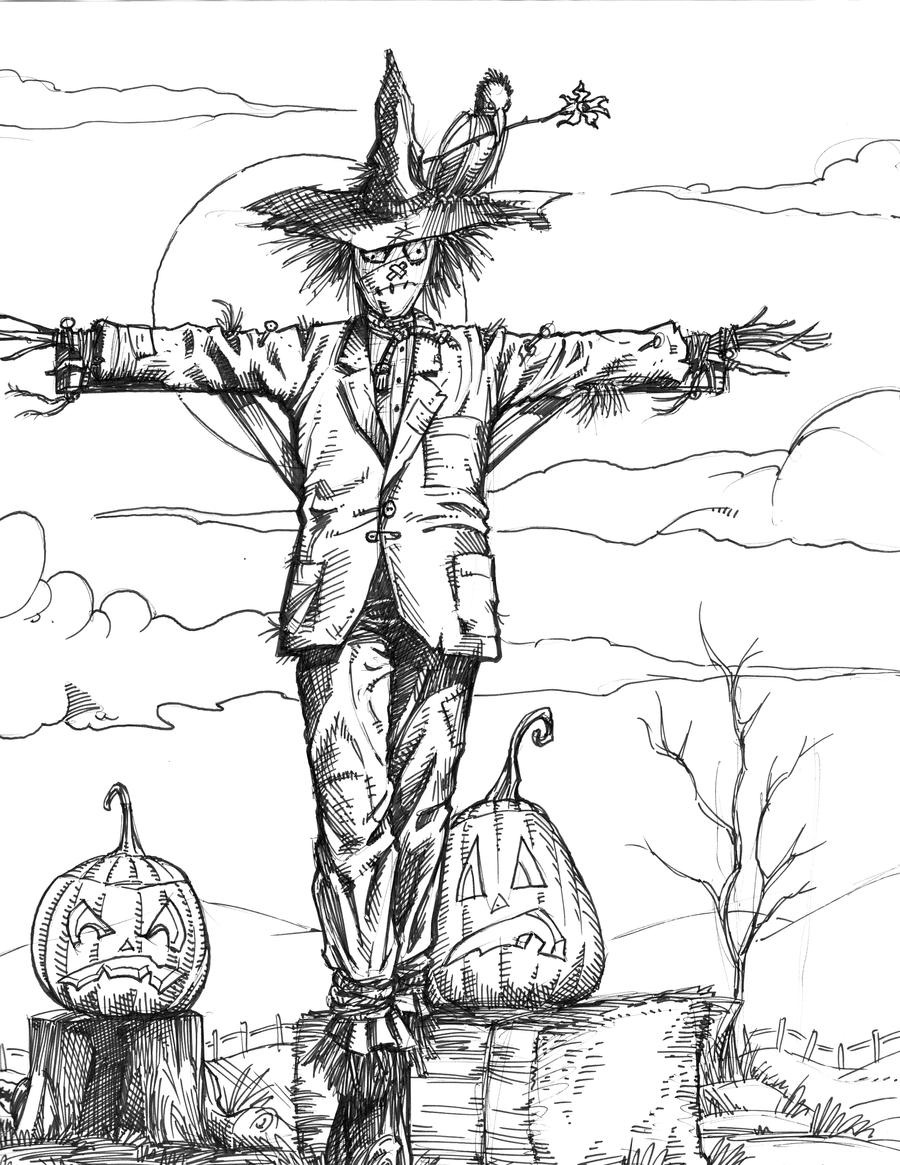 Image Result For Free Scarecrow Coloring