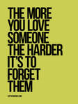The more you love someone...