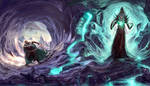 Drizzt and mindflayer