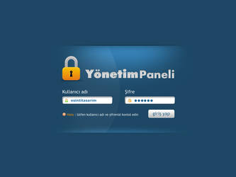 Login Panel by Esintitasarim