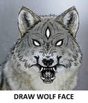 Draw wolf face challenge by Inknes