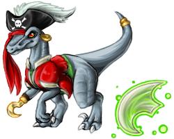 Pirate Raptor Pet by InuMimi