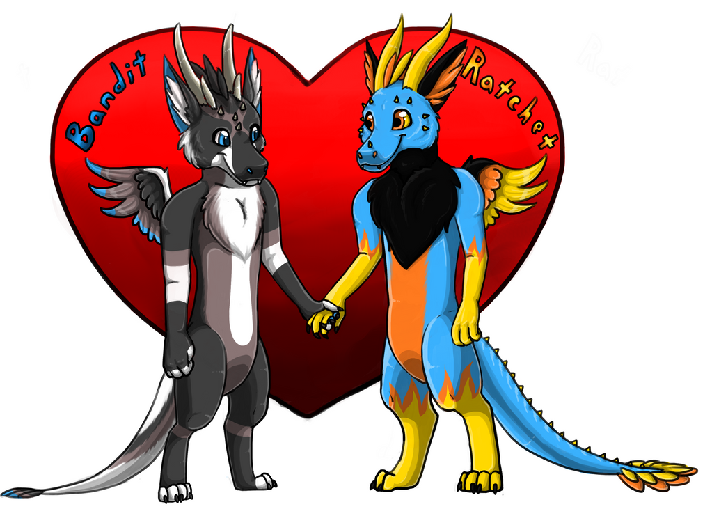 Bandit and Ratchet Couples Badge by InuMimi