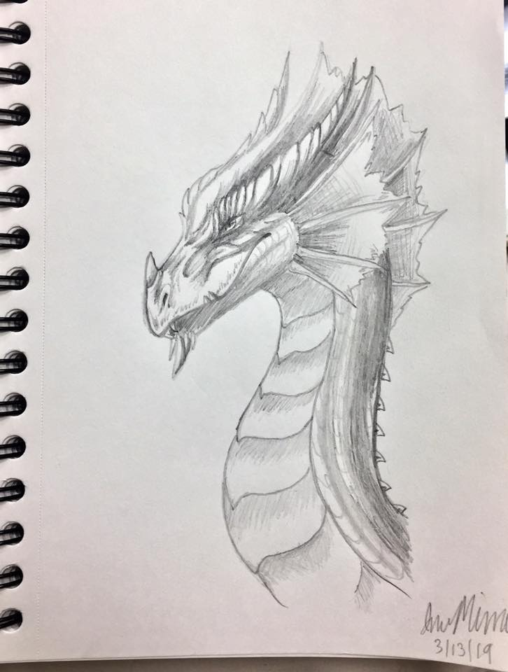 Dragon Sketch by InuMimi