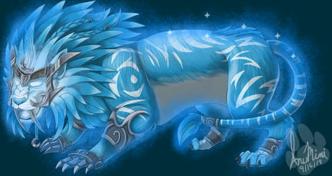 Ghost of the Pridemother: Blue Druid