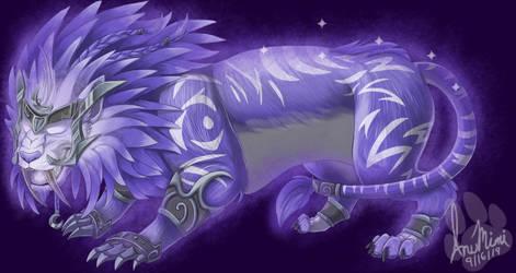 Ghost of the Pridemother: Purple Druid