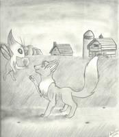 Eevee and Celebii by InuMimi