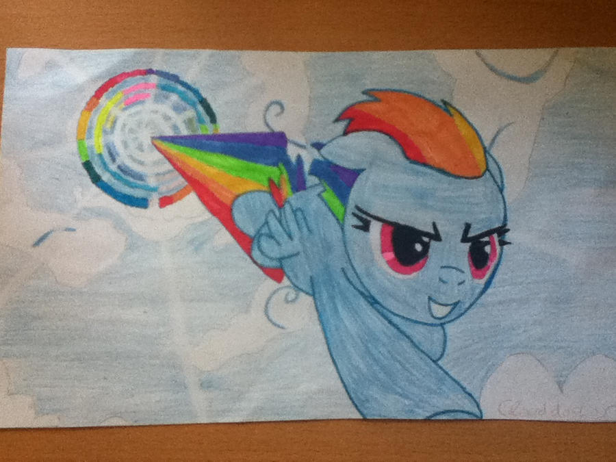 Rainbow Dash Sonic Rainboom by clouddasher on DeviantArt