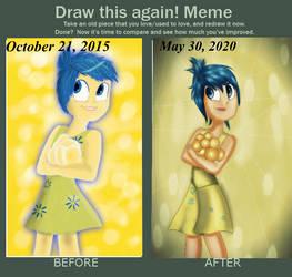 Draw this again!: Joyful Joy by PrincessRoseMcMitten